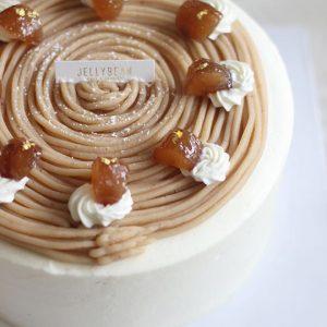Bean-paste Flower Rice Cupcake - Jelly Bean Cake & Dessert